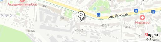 Онегин гимназист на карте Ставрополя