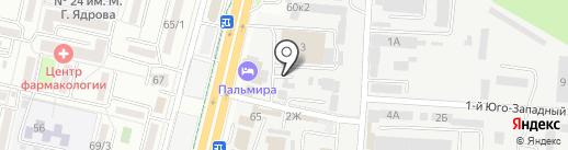 На Масквичевской на карте Ставрополя