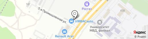 Автомойка самообслуживания на карте Ставрополя