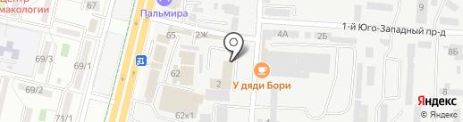 Тегра на карте Ставрополя