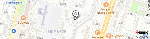 Квартал на карте Ставрополя