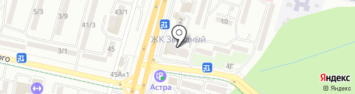 Автоцентр на карте Ставрополя
