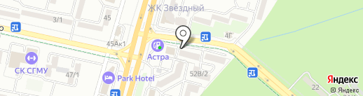 Родной Хуторок на карте Ставрополя