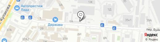 Стройбаза на карте Ставрополя