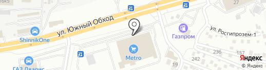 Воздушный шар на карте Ставрополя
