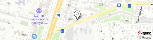 ЕРМОЛИНО на карте Ставрополя