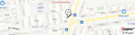 Хуторок на карте Ставрополя