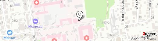 Ставропольская краевая клиническая больница на карте Ставрополя