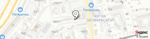 Магазин тканей на карте Ставрополя