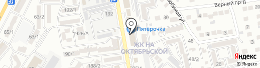 Октябрьский на карте Ставрополя