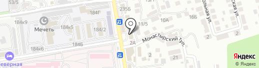 Булошная на карте Ставрополя