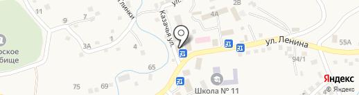 Татарское на карте Татарки