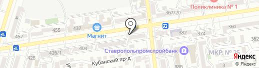 Дизайн-Цветы на карте Ставрополя