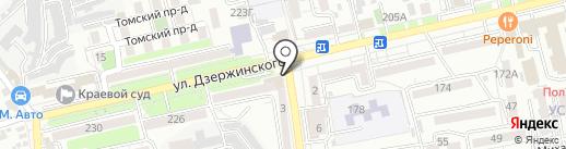 Магазин № 21 на карте Ставрополя