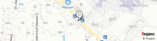 Городок на карте Ставрополя