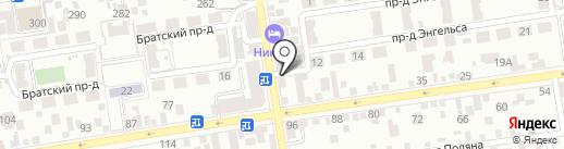 Жасмин на карте Ставрополя