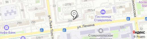 Геоматериалы на карте Ставрополя
