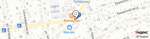 На колесах на карте Ставрополя