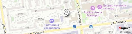Государственная инспекция труда в Ставропольском крае на карте Ставрополя