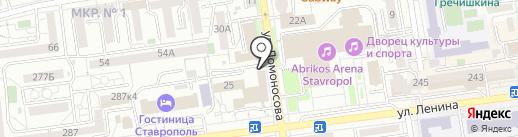 Столовая №7 на карте Ставрополя