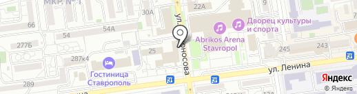 Адвокат Кустова И.П. на карте Ставрополя