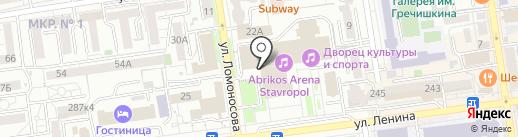 ЗАГС Ленинского района на карте Ставрополя