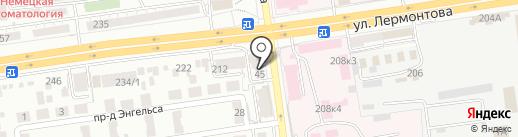 Дизайн Студия №1 на карте Ставрополя