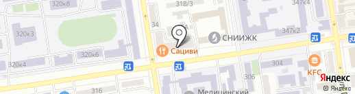 Красная Площадь на карте Ставрополя