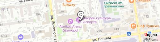 Банк ФК Открытие, ПАО на карте Ставрополя
