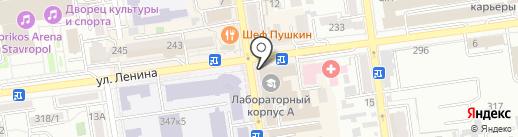РубинОВВ на карте Ставрополя