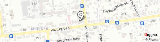Рыболов на карте Ставрополя