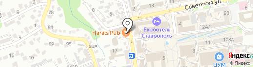 TopGun на карте Ставрополя
