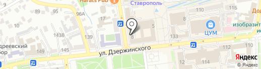 Оптика на Булкина на карте Ставрополя