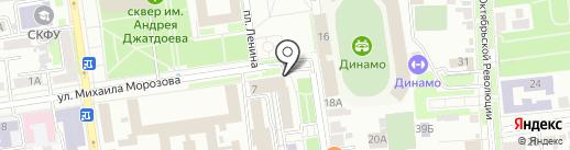 ТЭСЭРА на карте Ставрополя