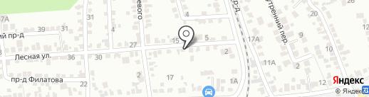 Подушки-Альфа на карте Ставрополя