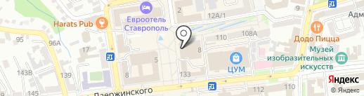 Серебряный Век на карте Ставрополя