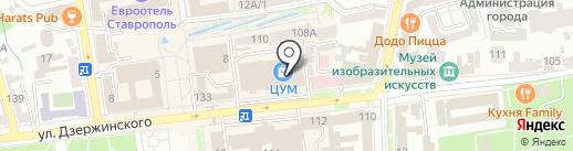 Yota на карте Ставрополя