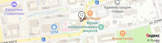 Савой на карте Ставрополя