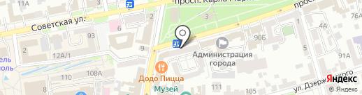 Фанагория на карте Ставрополя