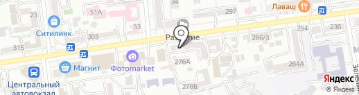 АВ на карте Ставрополя