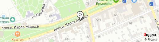 Служба высотных работ на карте Ставрополя