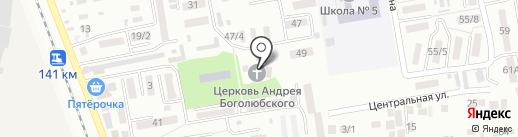 Храм святого благоверного князя Андрея Боголюбского на карте Михайловска