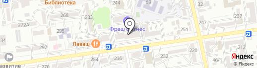 Новосёл на карте Ставрополя