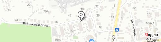 Стрижамент на карте Ставрополя