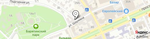 Кураж на карте Ставрополя