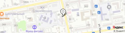 ГИПЕРКУБ на карте Ставрополя