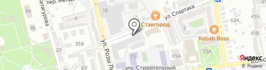 АльфаЮг на карте Ставрополя