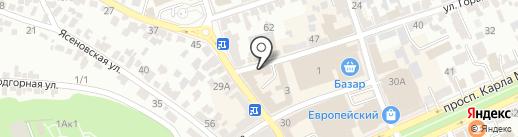 Манэ на карте Ставрополя