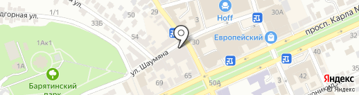 XXXX на карте Ставрополя