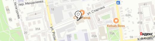 Верхнерусский на карте Ставрополя